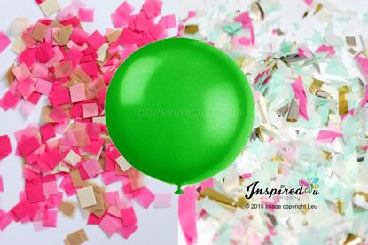 Picture of Gender Reveal Green Balloon Boy or Girl Baby Shower