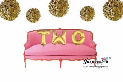 Picture of TWO Letters 16 Inch 40 cm Foil Balloons Birthday