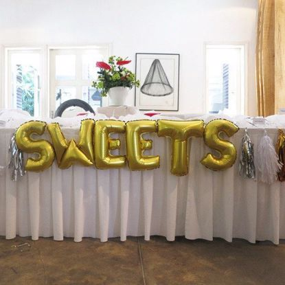 Picture of SWEETS Letters 16 Inch 40 cm Foil Balloons Party Birthday Cake Table