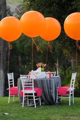 "Picture of Birthday Huge Giant Orange Balloons up to 36"" Wedding"