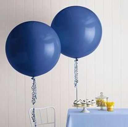"Picture of Baby Shower Huge Giant Blue Balloon up to 36"" Party"