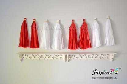 Picture of Birthday Garland Valentine's Love Red White Tissue Paper DIY