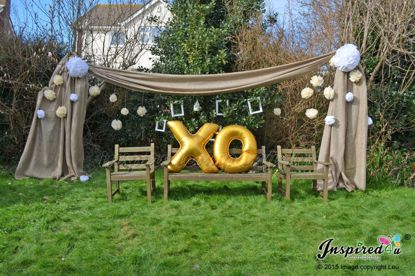 Picture of XOXO Letters 40 Inch 100 cm Foil Balloons Birthday Wedding