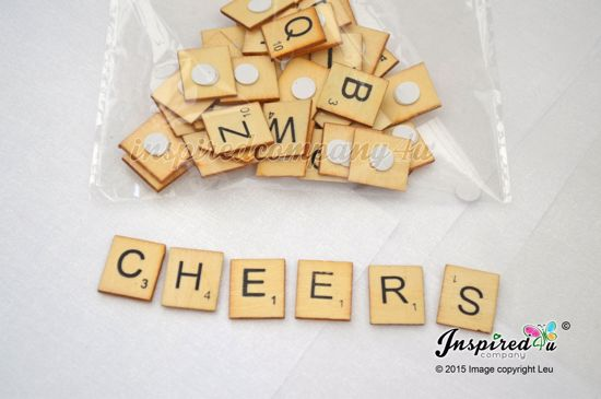 Picture of Wooden Scrabble Letters