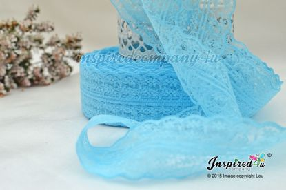 Picture of Turquoise Blue Wide 47 mm Lace Wedding DIY