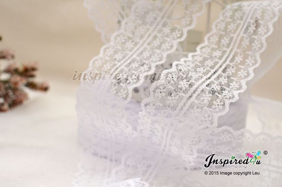 Picture of 2 meters White Wide 47 mm Lace Wedding DIY
