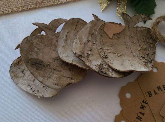 Picture of Christmas Tags Kraft Wood Apples DIY Kit Twine Bespoke Whimsical