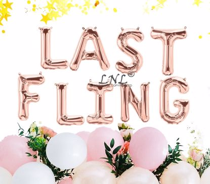 Picture of Last Fling Balloon Banner Rose Gold Silver