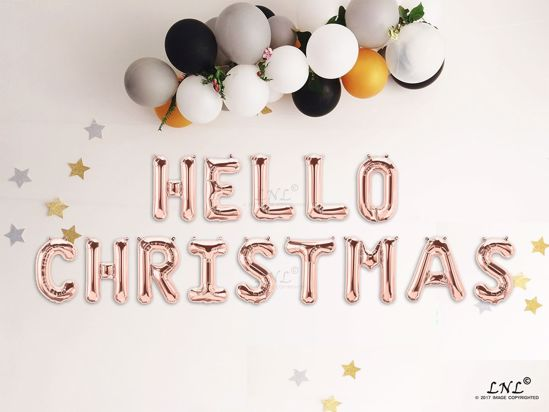 Picture of HELLO CHRISTMAS Rose gold Balloons