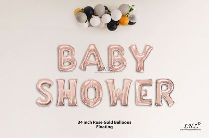 Picture of BABY SHOWER  Rose Gold Letters 34 Inch Foil Balloons