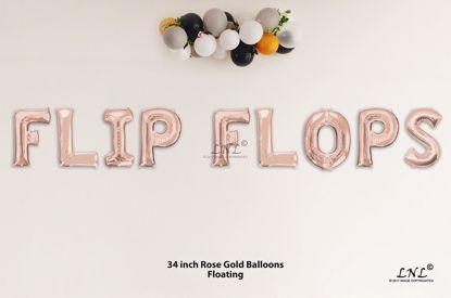Picture of FOREVER Rose Gold Letters 34 Inch Foil Balloons