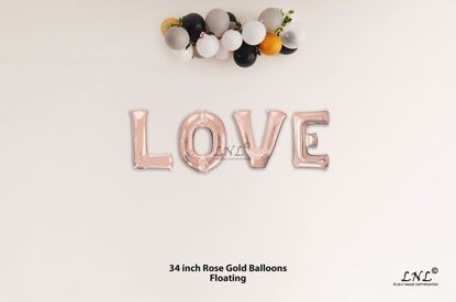 Picture of LOVE Rose Gold Letters 34 Inch Foil Balloons