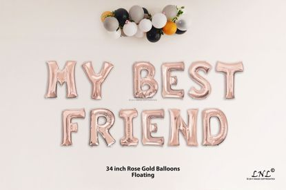 Picture of MY BEST FRIEND Rose Gold Letters 34 Inch Foil Balloons