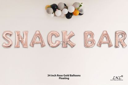 Picture of SNACK BAR Rose Gold Letters 34 Inch Foil Balloons