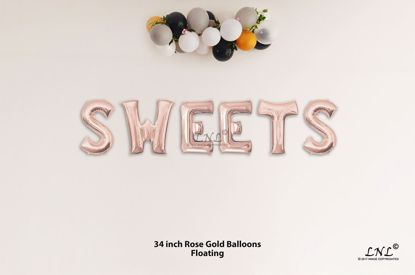 Picture of SWEETS Rose Gold Letters 34 Inch Foil Balloons