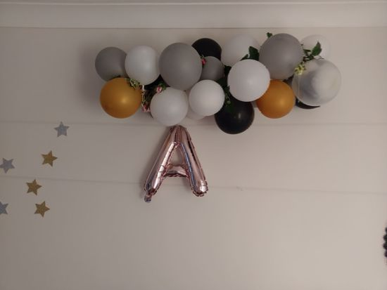 Picture of MRS TO BE  RING Rose Gold Silver Letter Balloons