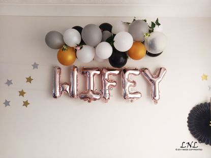 Picture of WIFEY Rose Gold Silver Letter Balloons