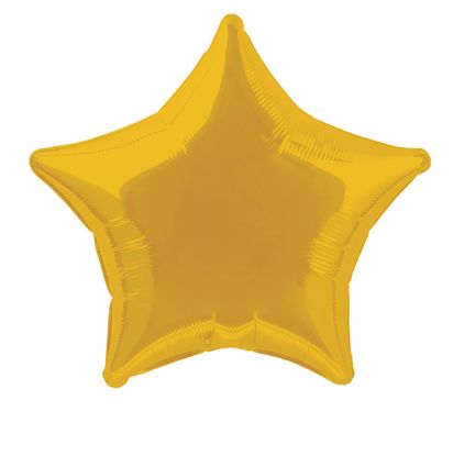 Picture of Gold Star Balloons