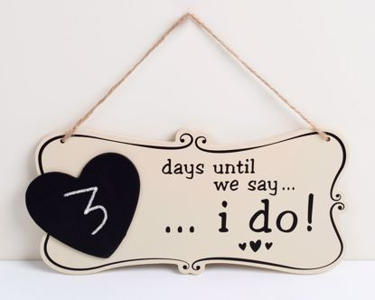 Picture of Wedding Sign Chalkboard ... I do