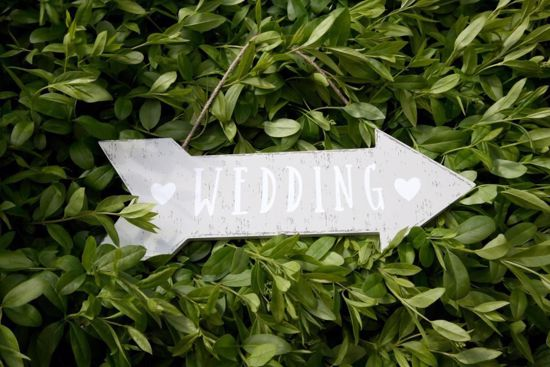 Picture of Wedding Sign Wooden Rustic