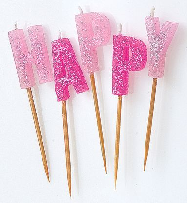 Picture of Happy Birthday Candles Pink