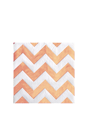 Picture of Rose Gold Napkins Chevron