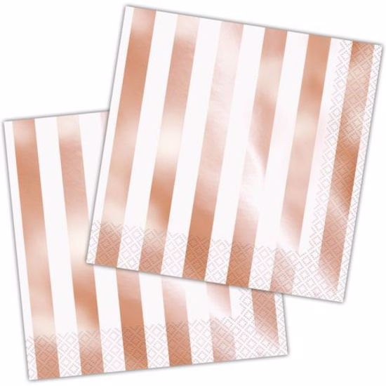 Picture of Rose Gold Napkins Stripe