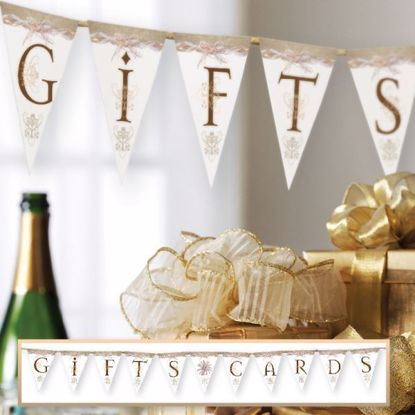 Picture of Rustic Wedding Gift Cards Pennant Banner 2.4m