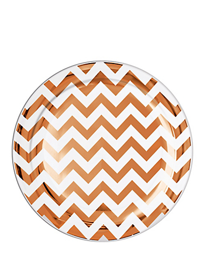 Picture of Rose Gold Plates Chevron
