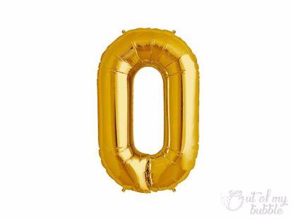 Gold foil balloon letter O
