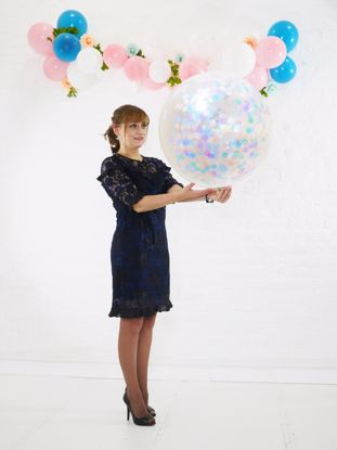 Picture of Large Confetti Balloons Blue Pink Lavender