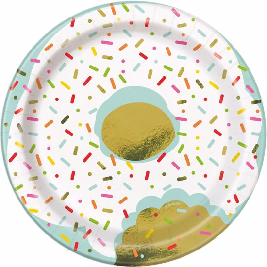 """Picture of Donuts Sprinkle Lunch Plates 7"""""""