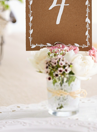 Picture of Rustic Wedding Table Number Cards 1-20 Kraft