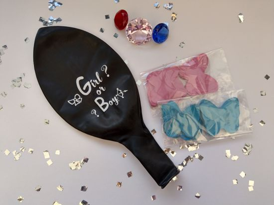 Picture of Girl or Boy  Gender Reveal Balloon Confetti Blue Pink - Whole Sale