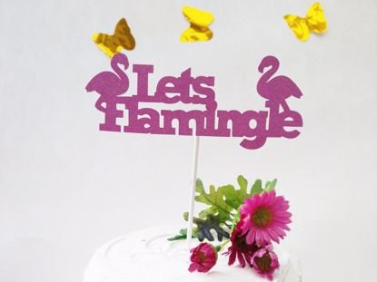 Picture of Lets Flamingle Glitter Cake Topper