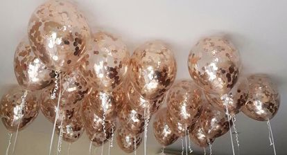 Picture of Rose Gold Balloons Foil Metallic Confetti