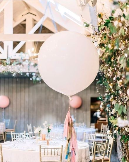 "Picture of Blush Balloons and Tail Giant 36"" Wedding"
