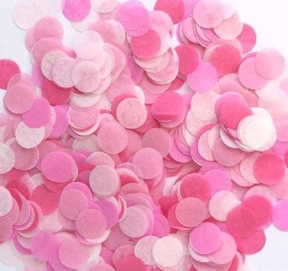 Picture of Baby Girl Tissue Paper Confetti Balloons Pink Fuchsia