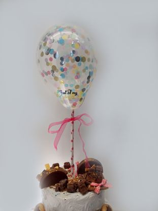 Picture of Colorful Confetti Balloon Cake Topper Birthday