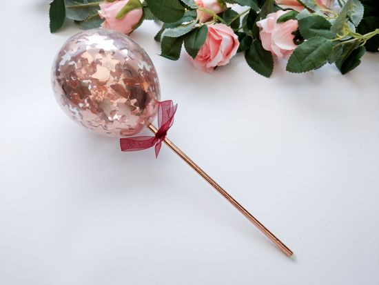 Picture of Cake topper Balloon Confetti Rose Gold Stars