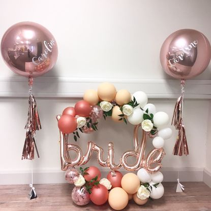 Picture of Rose Gold Balloon Script Bride