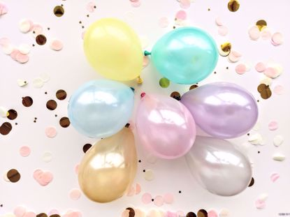 """Picture of 5"""" PASTEL LATEX MINI BALLOONS CORAL MINT"""