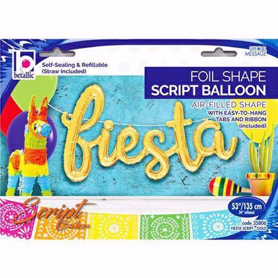 Picture of Fiesta Gold Balloon Script Cursive Garland