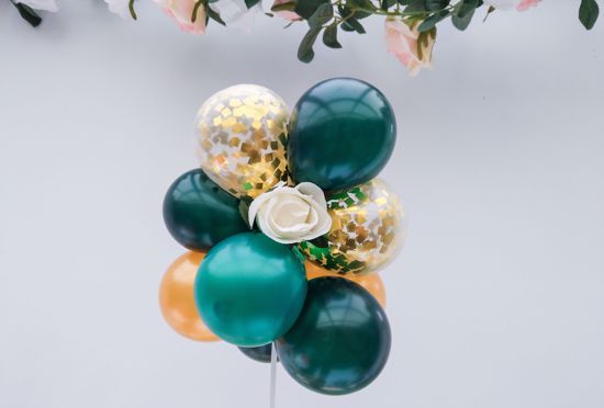 Picture of Balloon Cake Topper Mini Garland Green Gold