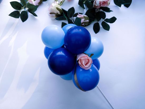 Picture of Balloon Cake Topper Mini Garland Navy Blue