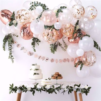 Picture of Rose Gold Balloon Garland Arch - 70 Balloons