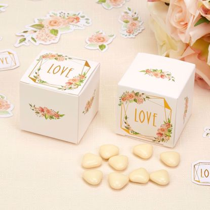 Picture of Wedding Favor Boxes Floral Boho