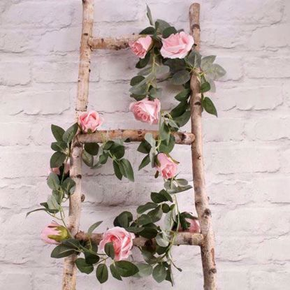 Picture of PINK ROSE GARLAND FLOWER TAIL