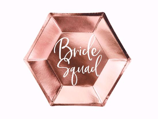 Picture of Rose Gold Plates Bride Squad