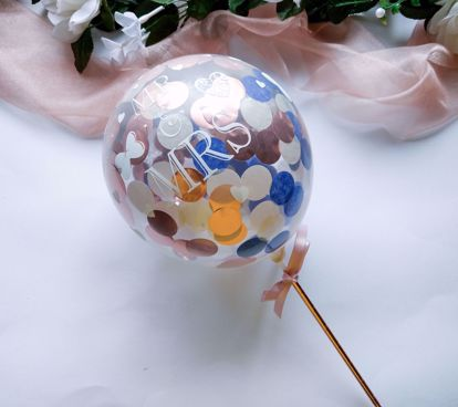 Picture of Balloon Cake Topper Confetti Mr Mrs